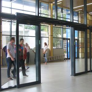 puerta antipánico / de entrada / abatible / corredera