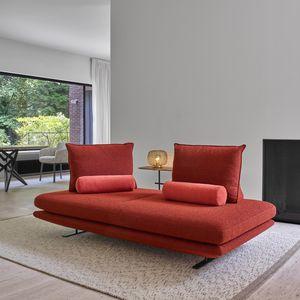 sofá modular / contemporáneo / de tejido / de metal