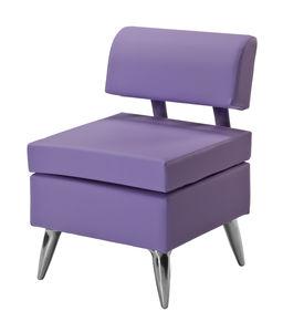 sillón de visita contemporáneo / de tejido / violeta / para centro de estética