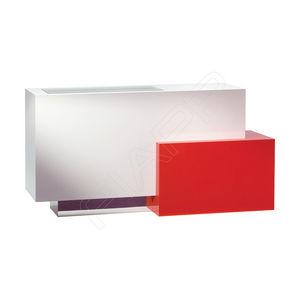 mostrador de recepción laminado / de madera / para peluquería