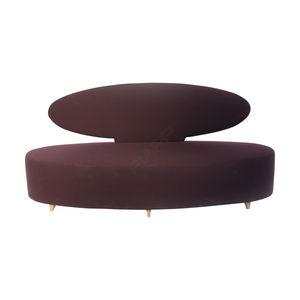 sofá en arco de círculo / clásico / de cuero / para el sector servicios