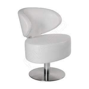 sillón de peluquería de metal cromado