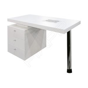 mesa de manicura con espacio de almacenamiento