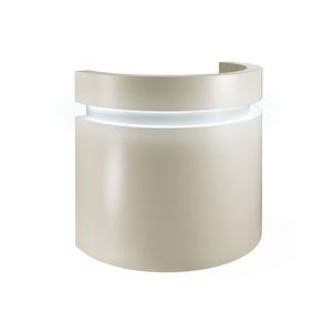 mostrador de recepción en arco de círculo / laminado / con luz / para peluquería