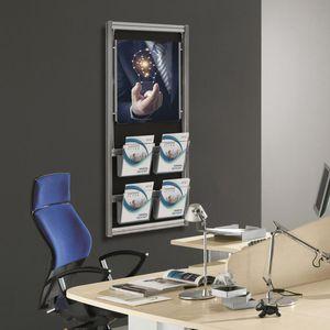 expositor de pared / multiusos / de aluminio / de panel