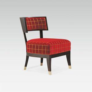 sillón bajo contemporáneo / de tejido / de haya / para el sector servicios