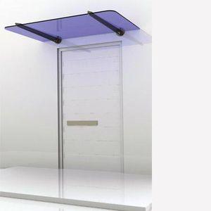 marquesina de entrada / de vidrio / de acero inoxidable / para el sector servicios