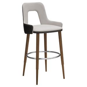 silla de bar contemporánea / tapizada / con reposapiés / de tejido