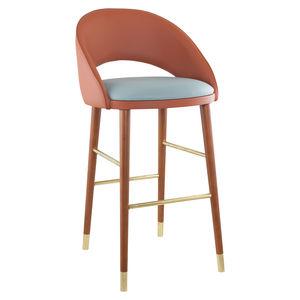 silla de bar contemporánea / tapizada / con reposapiés / con base central