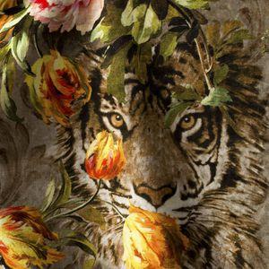 tela de tapicería / con motivos animales / poliester FR / de algodón