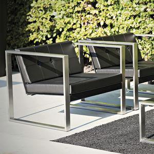 sillón contemporáneo / de Batyline® / de acero inoxidable / patín