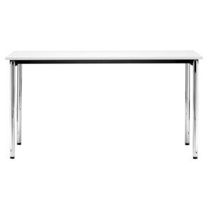 mesa contemporánea / de metal / con base metálica / rectangular