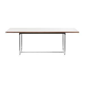 mesa contemporánea / de acero / de HPL / con base de acero
