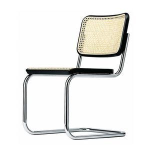 silla contemporánea / con reposabrazos / tapizada / cantilever