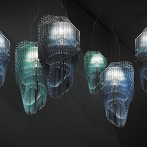 lámpara suspendida / de diseño original / de Lentiflex® / de Cristalflex®