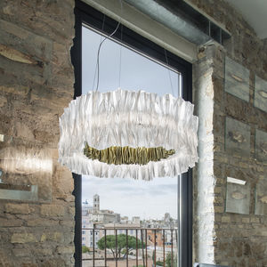 lámpara suspendida / contemporánea / de Lentiflex® / Goldflex®