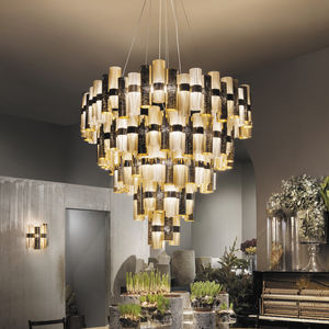 lámpara araña contemporánea / de Lentiflex® / de Cristalflex® / Goldflex®