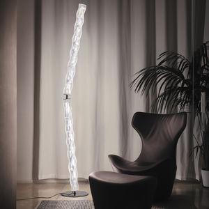 lámpara de pie / de diseño original / de acero inoxidable / de Lentiflex®