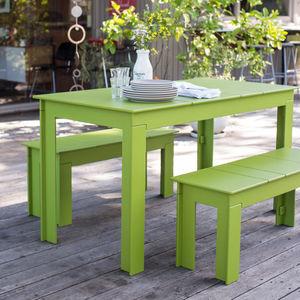 mesa de pícnic contemporánea / de polietileno de alta densidad PEHD / rectangular / de jardín