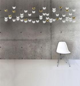 lámpara araña contemporánea / de porcelana de Limoges / LED / hecha a mano