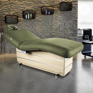 mesa de masaje eléctrica / de madera / con altura regulable / calefactada