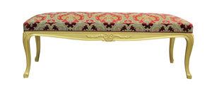 banqueta de estilo Luis XV / de tejido / de interior / dorada