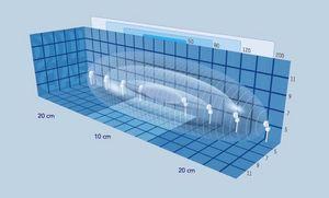 barrera de protección / fija / de material laminado / para edificio público