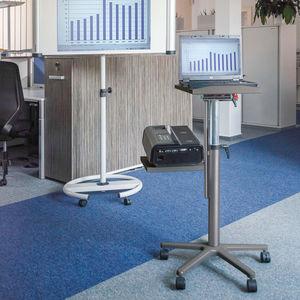 mesa de ordenador contemporánea / de aluminio fundido / de melamina / con base de acero