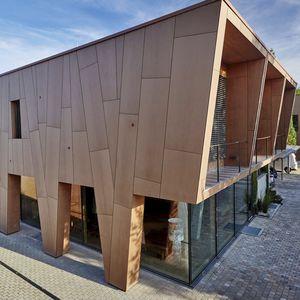 revestimiento de fachada de paneles / en láminas / de basalto / de material compuesto