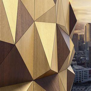 revestimiento de fachada de paneles / de material compuesto / de basalto / brillante