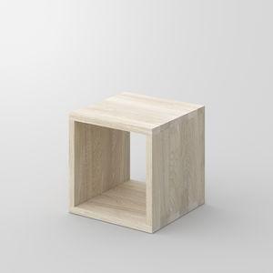 mesilla de noche contemporánea / de roble / de nogal / de madera maciza
