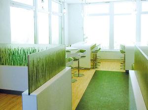 panel decorativo de plástico / para interiores / translúcido / para el sector servicios
