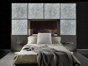 panel de vidrio decorado