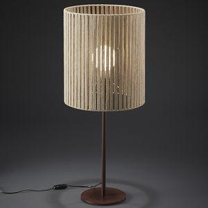 lámpara de mesa / contemporánea / de madera / de interior