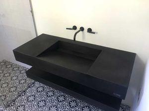 encimera de lavabo de hormigón con fibras de ultraalta resistencia Ductal® / a medida