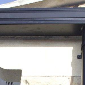 canalón aluminio / semirredondo / rectangular / sin mantenimiento
