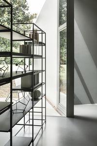 estantería contemporánea / de madera / de metal / de madera pintada