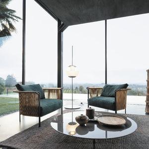 sillón clásico / de tejido / de cuero / de metal pintado