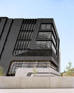 revestimiento de fachada de paneles / de hormigón / liso