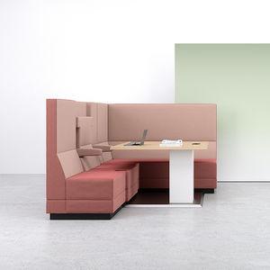 banqueta modular / contemporánea / de tejido / para oficina