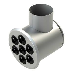 difusor de aire de techo / de pared / redondo / multiboquillas
