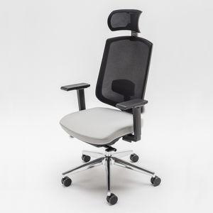 sillón de oficina contemporáneo / de tejido / de metal / de plástico