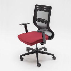 sillón de oficina contemporáneo / de tejido / de metal / con ruedas