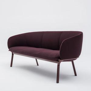 sofá compacto / contemporáneo / de tejido / de acero con revestimiento en polvo