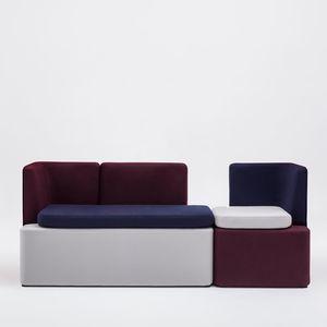 sofá modular / contemporáneo / para zona de recepción / de tejido