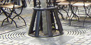 guarda-árboles de hierro fundido