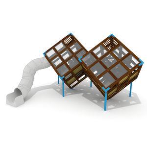 estación de juego para parque infantil / para edificio público / de madera / de HPL