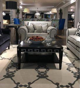 mesa de centro de estilo / de madera lacada / de haya / rectangular