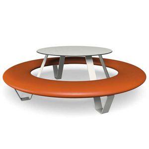mesa de pícnic de diseño original / de acero galvanizado / de polietileno / de HPL