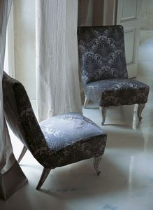 tela de tapicería / con motivos / de seda / adamascada